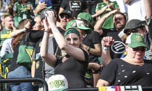 Some fans were banned from Portland Timbers games for displaying the Iron Front symbol