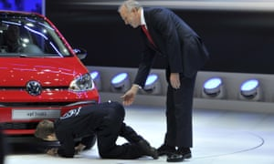 Let me just fit a cheat box … Brodkin disrupts a Volkswagen launch in 2016.