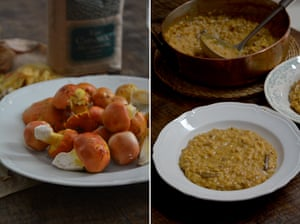 Autumnal fare: Rachel Roddy's mushroom risotto.