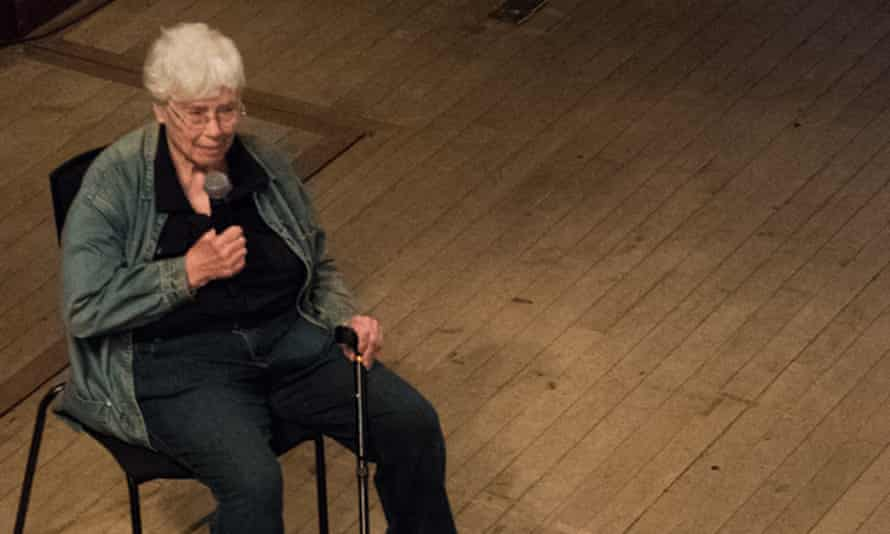 Pauline Oliveros at London's St John's Smith Square in summer 2016 for the Southbank's Deep Minimalism festival.