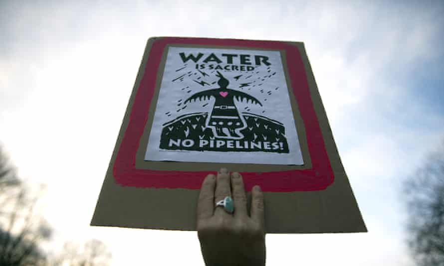 A permit has been granted for the oil pipeline to cross the Missouri river, following Donald Trump's executive order.