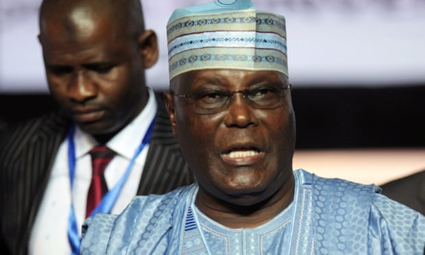 Atiku Abubakar attends the national convention of Nigeria's opposition People's Democratic party in the southern city of Port Harcourt in October.