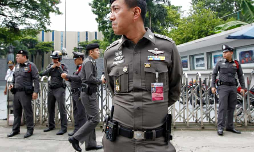 Thai police officers