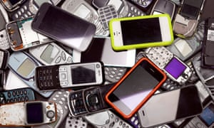 Old mobile and smart phones