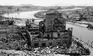 The devastated city of Hiroshima.