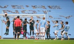 Manchester City's David Silva scores their fourth goal.