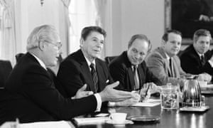 Cheney with Ronald Reagan in 1983.