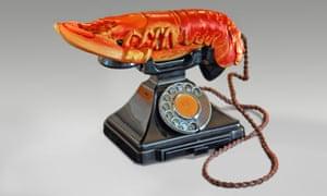 Lobster Telephone (red), 1938, Salvador Dalí.