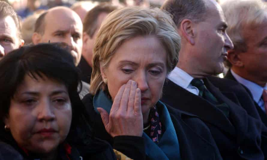 Hillary Clinton attends a memorial event at Ground Zero.