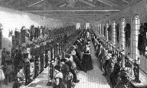 Female factory workers in Birmingham, 1851.