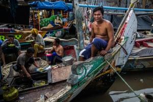 Fisherman Ari Sapilah in Muara Angke, North Jakarta.