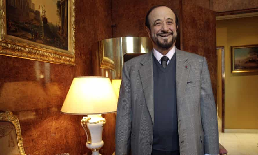 Rifaat Assad poses for a photographer in Paris in 2011.