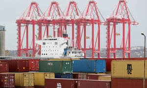 The UK's trade deficit narrowed to £9.7bn in October.