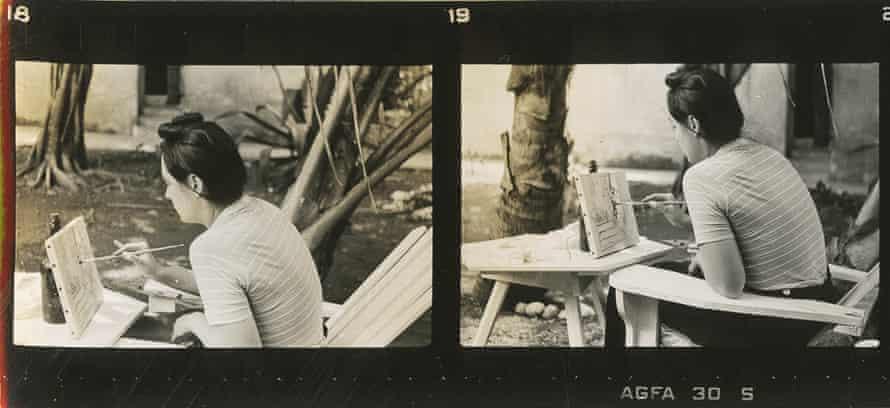 Carmen Herrera at work in Havana in 1941.