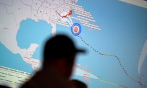 Emergency workers monitor progress before the arrival of Hurricane Florence in Wilmington, North Carolina, on Wednesday.