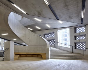 'The grandest staircase in London', in the Switch House extension to Tate Modern by Herzog & de Meuron.