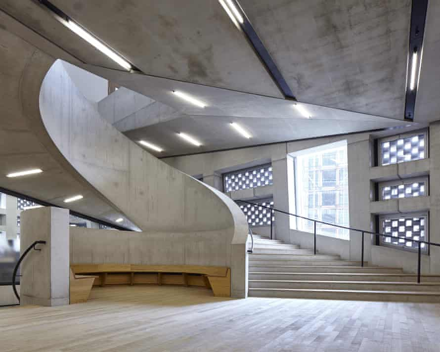 The spiralling concrete staircase in Tate Modern's Switch House.