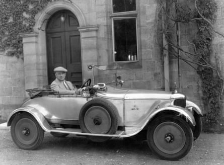 Wodehouse outside Hunstanton Hall, the Norfolk home of his friend Charles le Strange, 1928.
