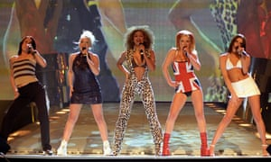 Spice Girls at the Brits ... 'by whose time I was too cool to idolise women with silly names, but who delivered glossy girl power to my eight-year-old sister.'