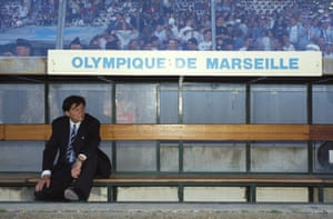 Raymond Goethals in the Marseille dugout