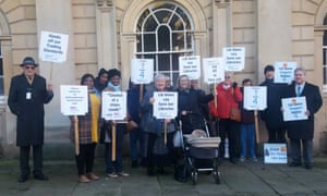 A demonstration in November last year against cuts by Northamptonshire county council.