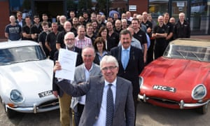Peter Neumark and Classic Motor Cars's staff