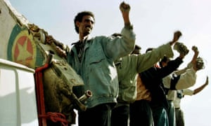 Eritreans celebrate during the war with neighbouring Ethiopia in 1998.