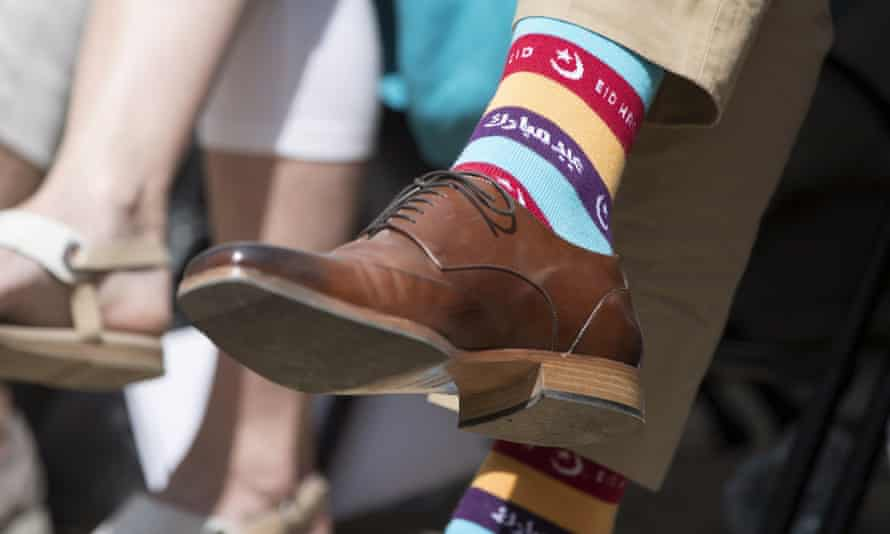 The Canadian prime minister in special socks for Eid and Gay Pride
