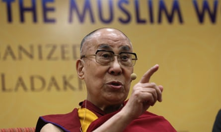 The Dalai Lama speaks during a conference in New Delhi, India, on 15 June.
