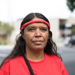 Thelma Kelly is from the same tribe and attends the protests to support the family