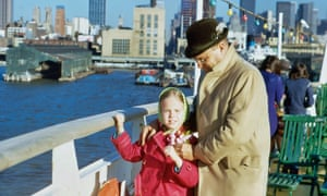 Dani Shapiro as a child with her father on board a ship in New Jersey in 1970.