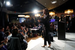 The Democratic presidential candidate and US senator Kamala Harris campaigns in San Francisco, US