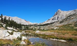The expansive valley of the Big Arroyo river, High Sierra Trail , Sierra Nevada