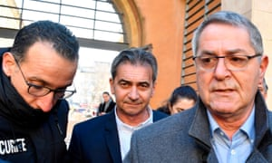 Bruno Odos and Jean Fauret arrive at court