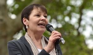 The Green MP Caroline Lucas