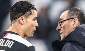 Cristiano Ronaldo and Maurizio Sarri