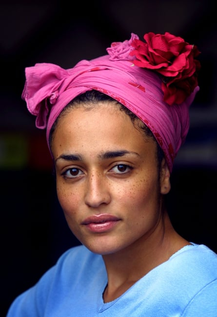 Zadie Smith, photographed at the Edinburgh books festival in 2001.
