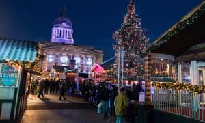 The Winter Wonderland in the Old Market Square, Nottingham
