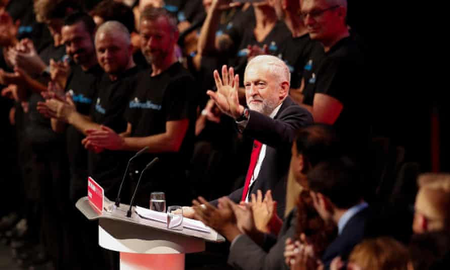 Corbyn speaks at the Labour conference
