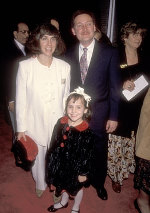 Mara Wilson with her parents at the Mrs Doubtfire premiere in Beverly Hills in 1993