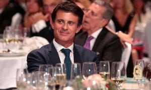 Manuel Valls at a literary awards ceremony in Barcelona