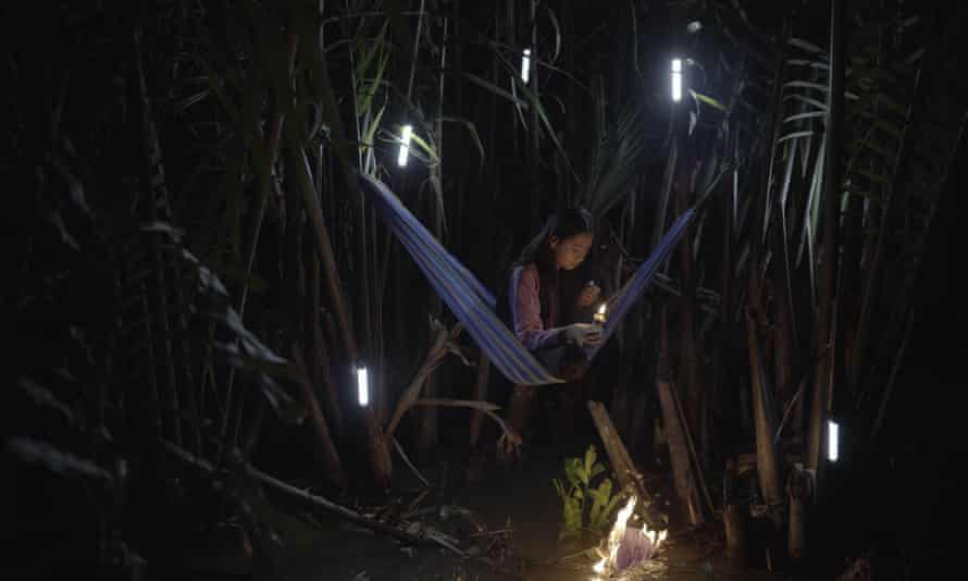 A video still from First Rain, Brise-Soleil by Thao Nguyen Phan.