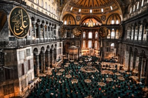 The First Friday prayer of Ramadan at Hagia Sophia Grand Mosque, Istanbul