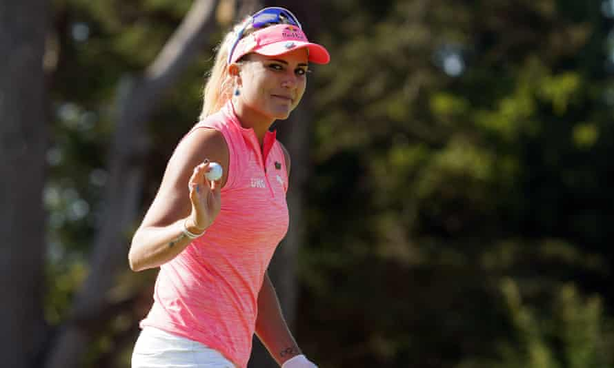 Lexi Thompson S Near Flawless Round Sends Her Into Us Women S Open Lead Golf The Guardian
