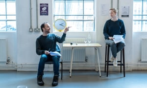 'Approaching the previews and everybody hates me' … the actors in rehearsal.