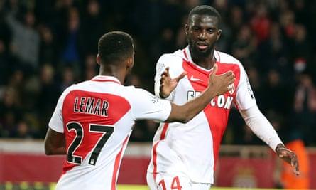 Chelsea manager Antonio Conte has been to watch Tiemoué Bakayoko (right)