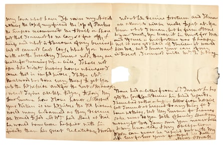 Lord Nelson's letter to Lady Hamilton.