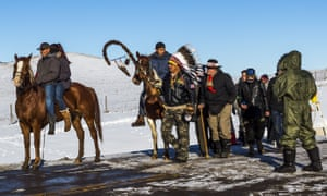 The Army Corps of Engineers turned down a key permit for a the Dakota Access pipeline.