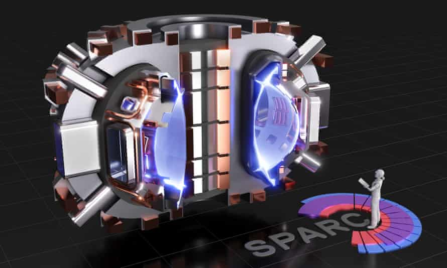 A rendering of Sparc, a nuclear fusion reactor currently under development. Scientists behind Sparc hope it will be capable of producing electricity for the grid by 2030.