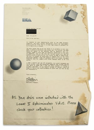 A rejection letter written in June 1991 from EA Games to the producers of Football Manager